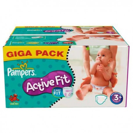 Active Fit - 280 Couches Pampers taille 3+ sur Couches Poupon