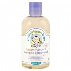 Gel douche EFB - Earth Friendly Baby Bio Mandarine sur Couches Poupon