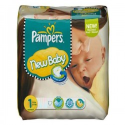 New Baby Dry - 301 Couches Pampers taille 1 sur Couches Poupon