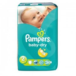Pampers - Pack 33 Couches Baby Dry taille 2