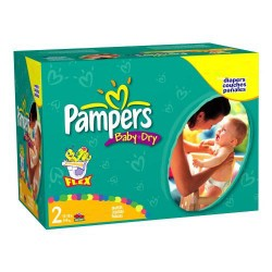 Pampers - Mega pack 198 Couches Baby Dry taille 2 sur Couches Poupon