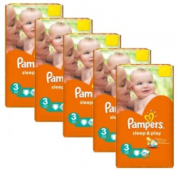 Pampers - Pack jumeaux 546 Couches Sleep & Play taille 3