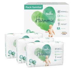 Pampers - Pack 56 Couches Harmonie taille 4 sur Couches Poupon