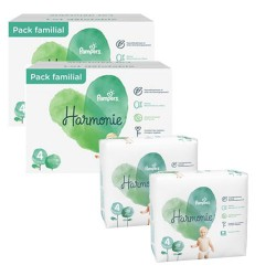 Pampers - Giga pack 252 Couches Harmonie taille 4