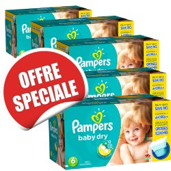 Pampers - Giga pack 208 Couches Baby Dry taille 6 sur Couches Poupon