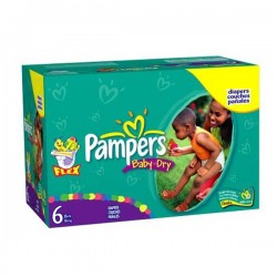Pampers - Giga pack 260 Couches Baby Dry taille 6 sur Couches Poupon
