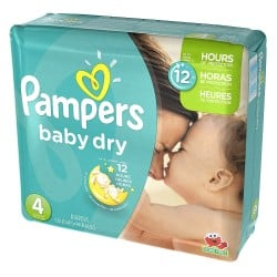 Pampers - Mega pack 156 Couches Baby Dry taille 4 sur Couches Poupon