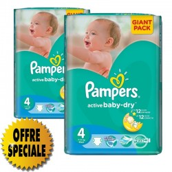 Pampers - Pack 39 Couches Active Baby Dry taille 4 sur Couches Poupon