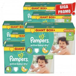 Pampers - Giga pack 273 Couches Active Baby Dry taille 4 sur Couches Poupon