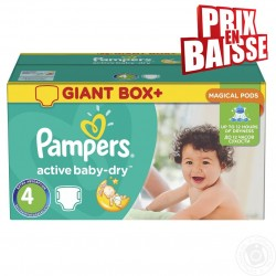 Pampers - Maxi giga pack 338 Couches Active Baby Dry taille 4 sur Couches Poupon