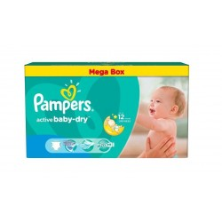 Pampers - Pack jumeaux 559 Couches Active Baby Dry taille 4 sur Couches Poupon