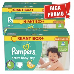 Pampers - Pack jumeaux 650 Couches Active Baby Dry taille 4 sur Couches Poupon