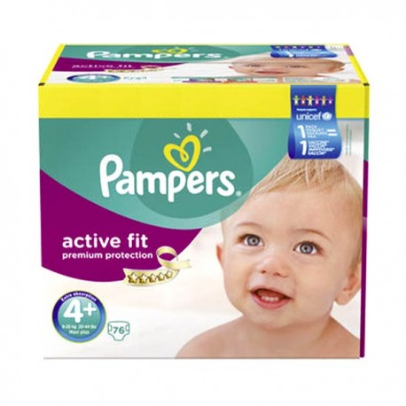 76 Couches Pampers Active Fit Taille 4 En Solde Sur Couches Poupon