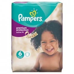 Active Fit - 64 Couches de Pampers taille 6