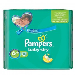 Baby Dry - 38 Couches Pampers taille 6+