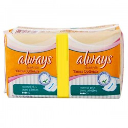Simply Fits - 144 Serviettes hygiéniques Always taille normal plus sur Couches Poupon