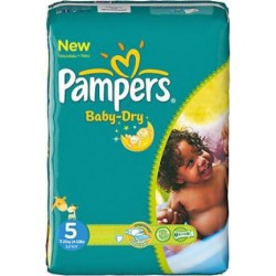 Baby Dry - 180 Couches Pampers taille 5