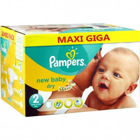 New Baby Dry - 58 Couches Pampers taille 2 sur Couches Poupon