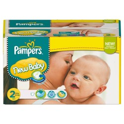 New Baby - 80 Couches Pampers taille 2 sur Couches Poupon