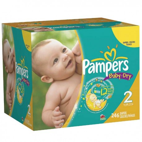 Pampers - Pack jumeaux 627 Couches Baby Dry taille 2 sur Couches Poupon