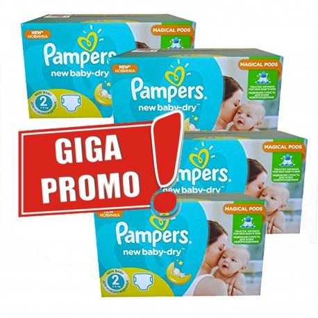 Pampers - Maxi giga pack 330 Couches New Baby Dry taille 2 sur Couches Poupon