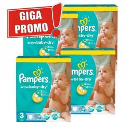 Pampers - Pack jumeaux 748 Couches Active Baby Dry taille 3