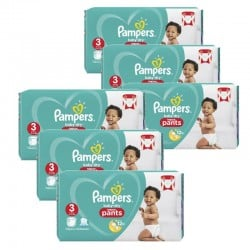 Pampers - Mega pack 156 Couches Baby Dry Pants taille 3