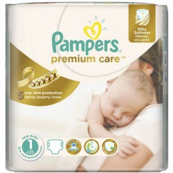 Premium Care - 22 Couches Pampers taille 1 sur Couches Poupon