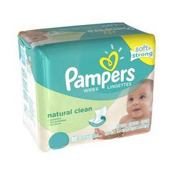 Natural Clean - 768 Lingettes Bébés Pampers sur Couches Poupon