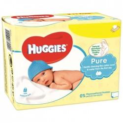 Pure - 560 Lingettes Bébés d'Huggies sur Couches Poupon