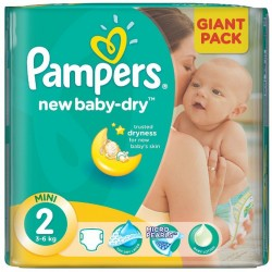 New Baby Dry - 80 Couches Pampers taille 2