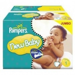 New Baby Dry - 324 Couches Pampers taille 1 sur Couches Poupon
