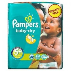 Baby Dry - 43 Couches Pampers taille 5+