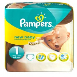New Baby - 50 Couches de Pampers taille 1 sur Couches Poupon