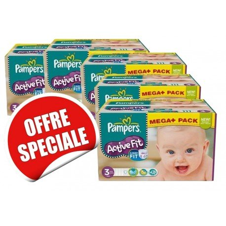 Active Fit - 615 Couches Pampers taille 3 sur Couches Poupon