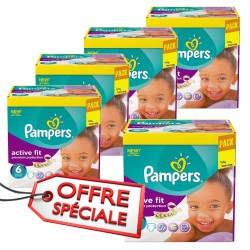 Active Fit - 576 Couches Pampers taille 6 sur Couches Poupon