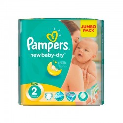 68 Couches Pampers New Baby Dry taille 2 sur Couches Poupon
