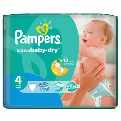 Active Baby Dry - 76 Couches de Pampers taille 4 sur Couches Poupon