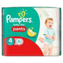 Baby Dry Pants - 23 Couches Pampers taille 4 sur Couches Poupon