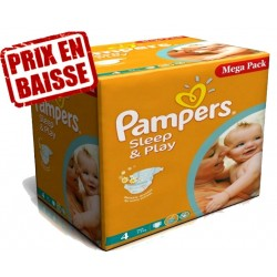 Sleep & Play - 250 Couches Pampers taille 4 sur Couches Poupon