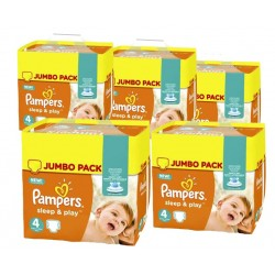 Sleep & Play - 550 Couches Pampers taille 4 sur Couches Poupon
