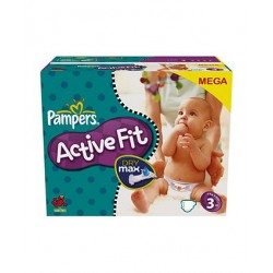Active Fit - 100 Couches Pampers taille 3 sur Couches Poupon