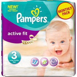 Active Fit - 84 Couches Pampers taille 3 sur Couches Poupon