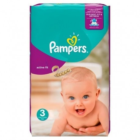 Active Fit - 62 Couches Pampers taille 3 sur Couches Poupon