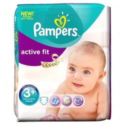Active Fit - 70 Couches de Pampers taille 3+ sur Couches Poupon