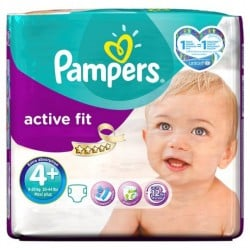 Active Fit - 50 Couches Pampers taille 4+ sur Couches Poupon