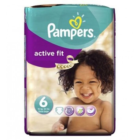 Active Fit - 31 Couches Pampers taille 6 sur Couches Poupon