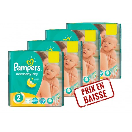 New Baby Dry - 272 Couches Pampers 2 sur Couches Poupon