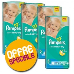 Active Baby Dry - 504 Couches Pampers taille 5 sur Couches Poupon