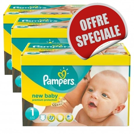 New Baby Dry - 516 Couches Pampers taille 1 sur Couches Poupon